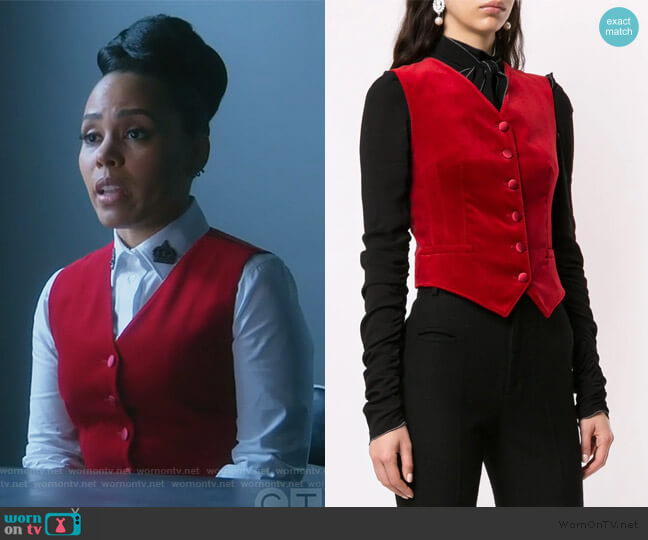 Fitted Waistcoat by Dolce & Gabbana worn by Tegan Price (Amirah Vann) on HTGAWM