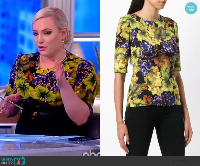 Printed Fitted Top by Dolce & Gabbana worn by Meghan McCain  on The View