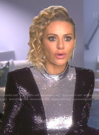 Dorit's sequin dress on The Real Housewives of Beverly Hills