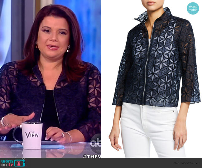 Rainer Silk Floral Lace Jacket by Elie Tahari worn by Ana Navarro  on The View