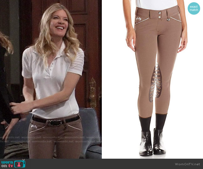 Equine Couture Brittni Knee Patch Breech worn by Nina Reeves (Michelle Stafford) on General Hospital