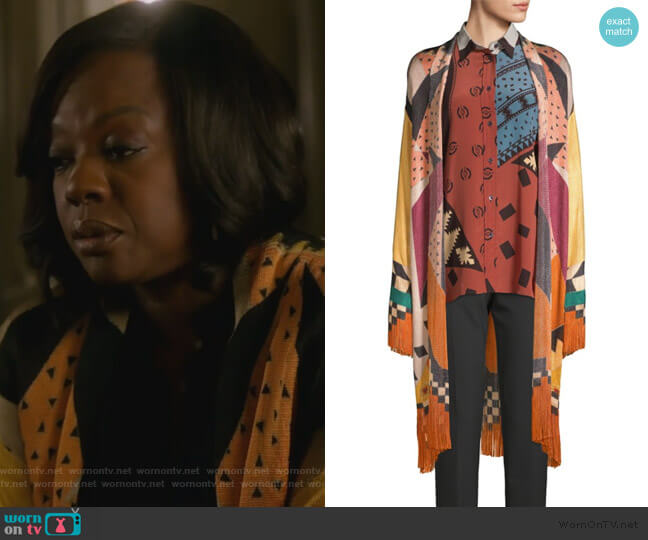 Veronica Knit Cardigan by Etro worn by Annalise Keating (Viola Davis) on HTGAWM