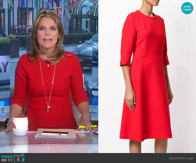 Flared Shift Dress by Marni worn by Savannah Guthrie (Savannah Guthrie) on Today