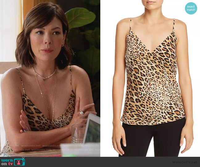 Leopard Print Silk Camisole by Frame worn by Camille (Lindsay Price) on Splitting Up Together