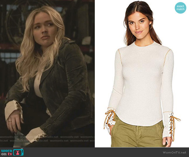 Mountaineer Cuff Top by Free People  worn by Lauren Strucker (Natalie Alyn Lind) on The Gifted