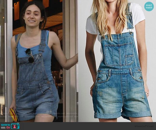 Boyfriend Shortall Overalls by Free People worn by Fiona Gallagher (Emmy Rossum) on Shameless