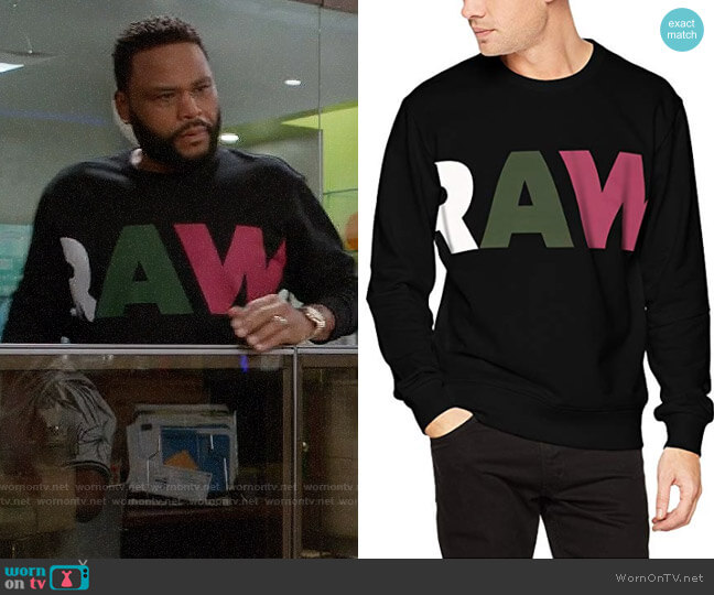 G-Star Heavy Sherland Sweat Ub worn by Andre Johnson (Anthony Anderson) on Blackish