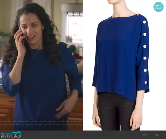 Leia Top by Gerard Darel worn by Grace Stone (Athena Karkanis) on Manifest