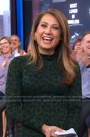Ginger's green leopard print dress on Good Morning America