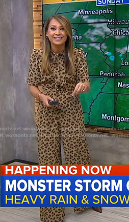 Ginger's leopard print jumpsuit on Good Morning America