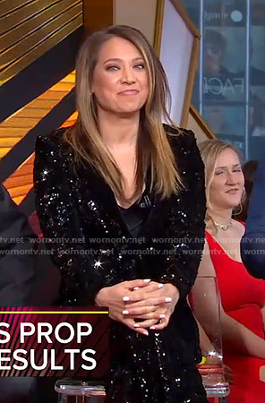 Ginger's sequin suit on Good Morning America
