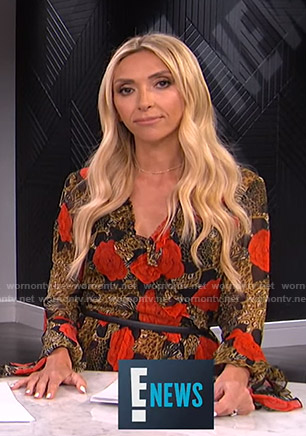Giuliana's floral and leopard print dress on E! News