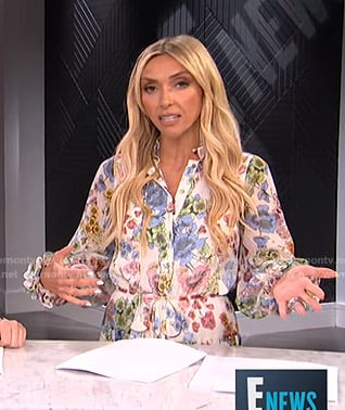 Giuliana white floral dress with tassels on E! News