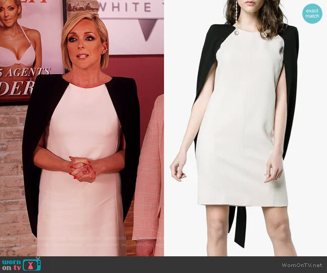 Cape Detail Mini Dress by Givenchy worn by Jacqueline Voorhees (Jane Krakowski) on Unbreakable Kimmy Schmidt