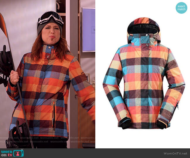 Thermal Warm Waterproof Windproof Colorful Ski Jackets by Gsou Snow worn by Kimmy Schmidt (Ellie Kemper) on Unbreakable Kimmy Schmidt