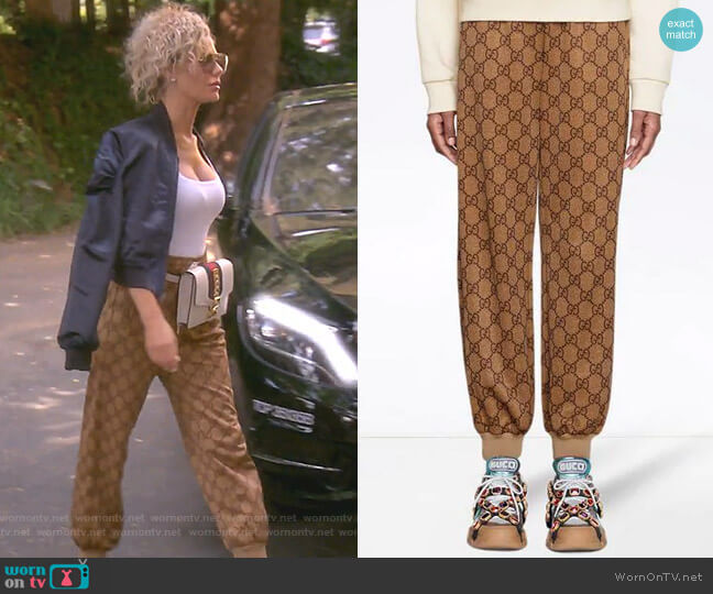 GG technical jersey jogging pant by Gucci worn by Dorit Kemsley (Dorit Kemsley) on The Real Housewives of Beverly Hills