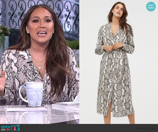 V-neck Dress by H&M worn by Adrienne Houghton  on The Real