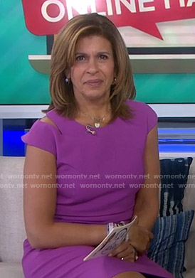 Hoda's purple cutout dress on Today