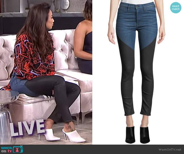 Barbara Jeans by Hudson worn by Jeannie Mai  on The Real