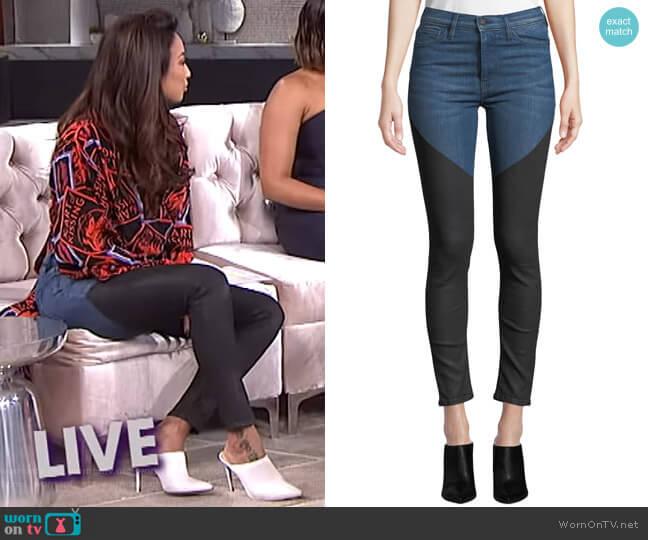 Barbara Jeans by Hudson worn by Jeannie Mai (Jeannie Mai) on The Real