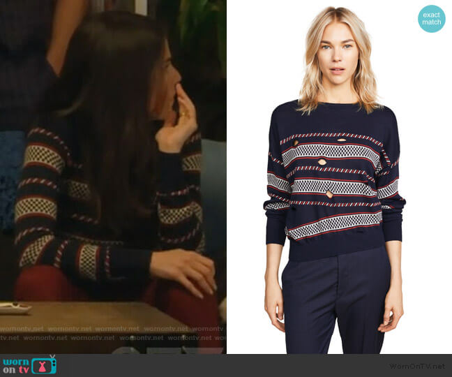 Casey Pullover by Isabel Marant Etoile worn by Laurel Castillo (Karla Souza) on HTGAWM