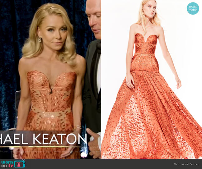 2019 Spring Collection by J.Mendel worn by Kelly Ripa  on Live with Kelly & Ryan