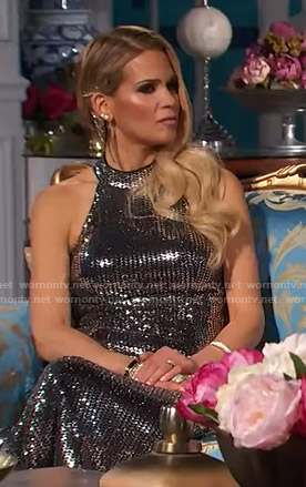 Jackie's sequin halter gown on The Real Housewives of New Jersey