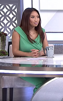 Jeannie's green Jumpsuit on The Real
