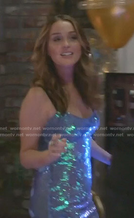 Jo's sequin dress with black straps on Grey's Anatomy