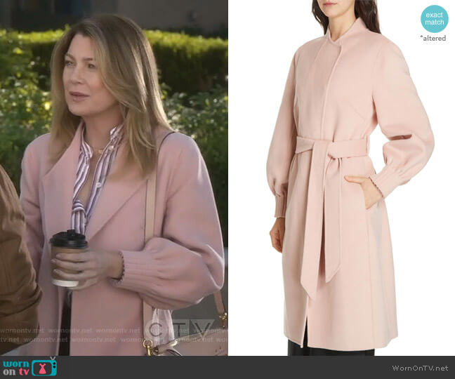 Mazie Coat by Joie worn by Meredith Grey (Ellen Pompeo) on Greys Anatomy