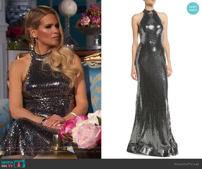 Allover Dress by Jovani worn by Jackie Goldschneider  on The Real Housewives of New Jersey