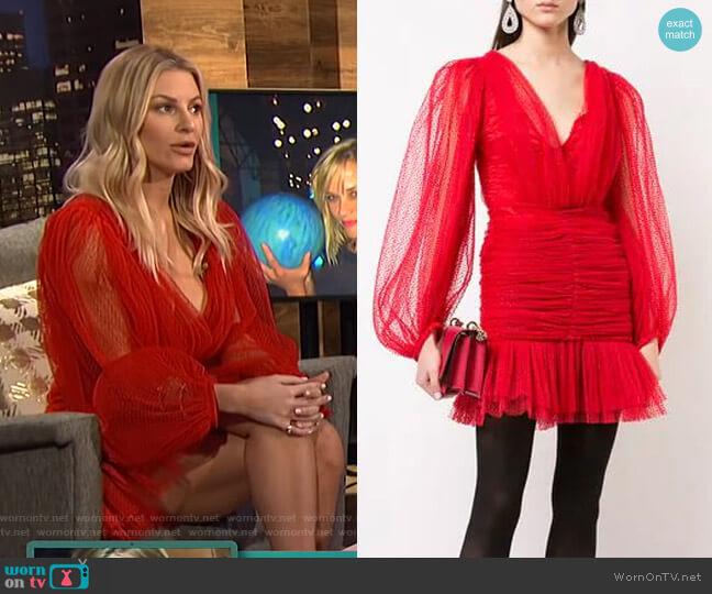 V-Neck Dress by Kalmanovich worn by Morgan Stewart  on E! News