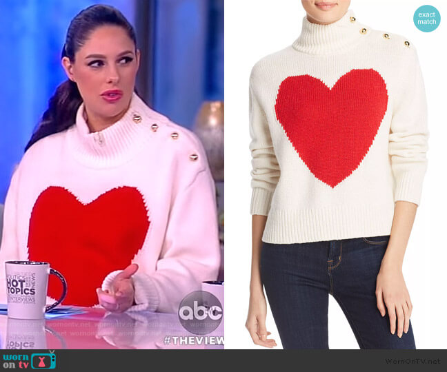 Broome Street Heart Turtleneck Sweater by Kate Spade worn by Abby Huntsman  on The View