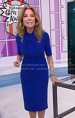 Kathie's blue twisted neck dress on Today