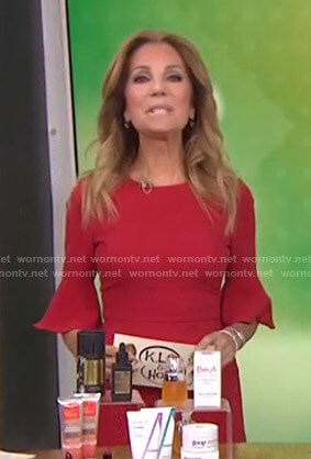 Kathie's red bell sleeve dress on Today