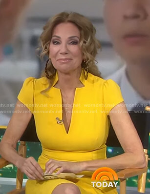 Kathie's yellow v-neck cap sleeve dress on Today