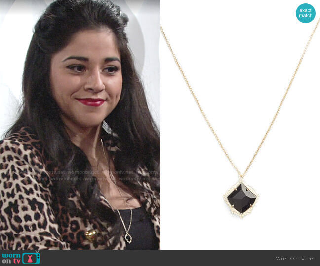 Kendra Scott Kacey Necklace  worn by Mia Rosales (Noemi Gonzalez) on The Young & the Restless
