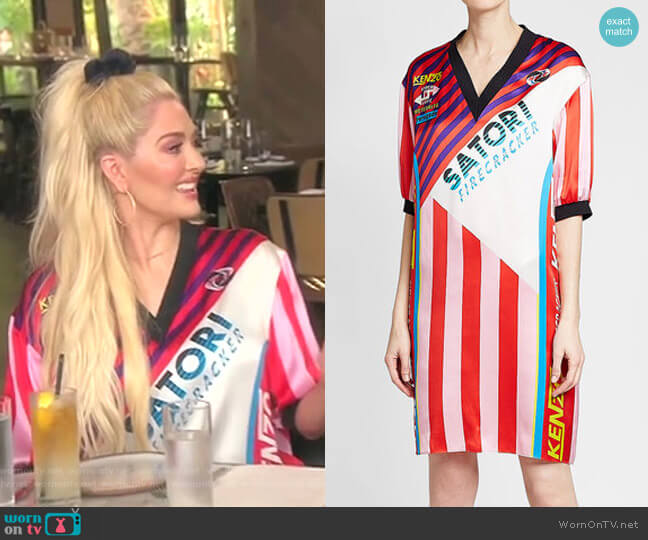 Printed Silk Dress by Kenzo worn by Erika Girardi  on The Real Housewives of Beverly Hills