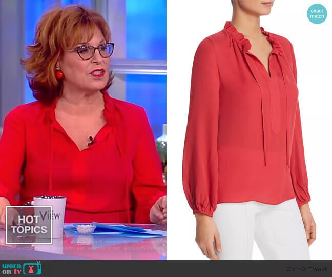 Darcy Silk Blouse by Kobi Halperin worn by Joy Behar (Joy Behar) on The View