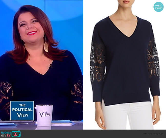 Katharina Lace-Sleeve Sweater by Kobi Halperin worn by Ana Navarro  on The View