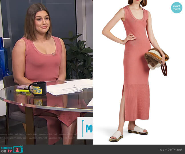 Cobra Compact Knit Midi-Dress by Land of Distraction worn by Carissa Loethen Culiner  on E! News