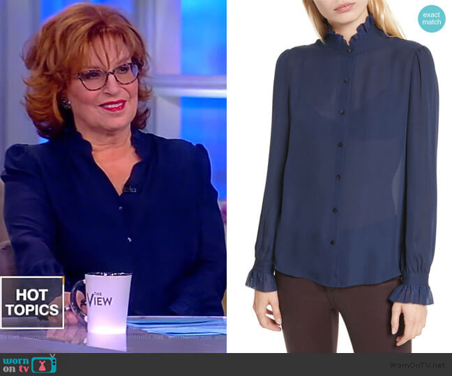 Carla Silk Blouse by L'Agence worn by Joy Behar (Joy Behar) on The View