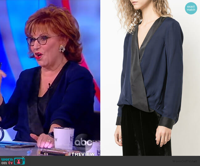 Kyla Draped Blouse by L'Agence worn by Joy Behar  on The View