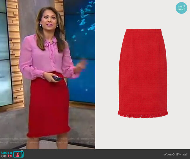 Myia Skirt by LK Bennett worn by Ginger Zee  on Good Morning America
