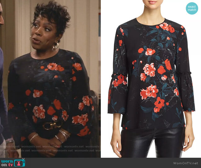 Roslin Blouse Lafayette 148 New York worn by Rose (Sheryl Lee Ralph) on Fam