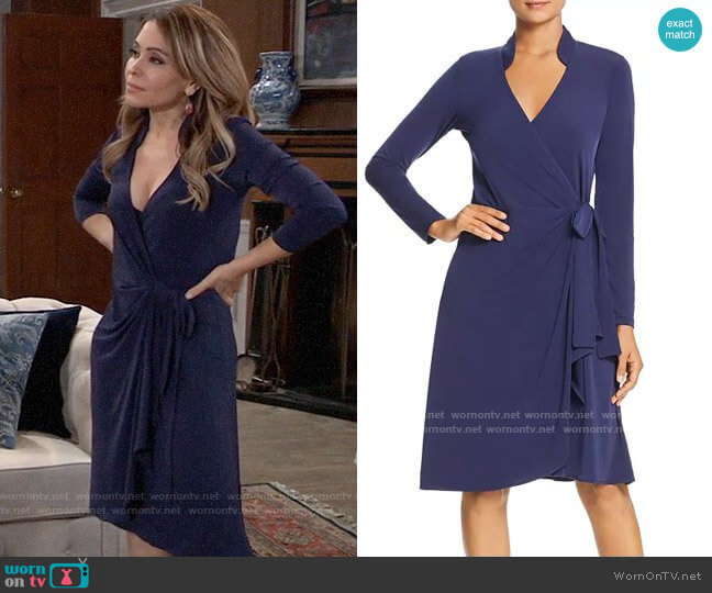 Leota Gabrielle Faux-Wrap Dress worn by Olivia Falconeri (Lisa Lo Cicero) on General Hospital