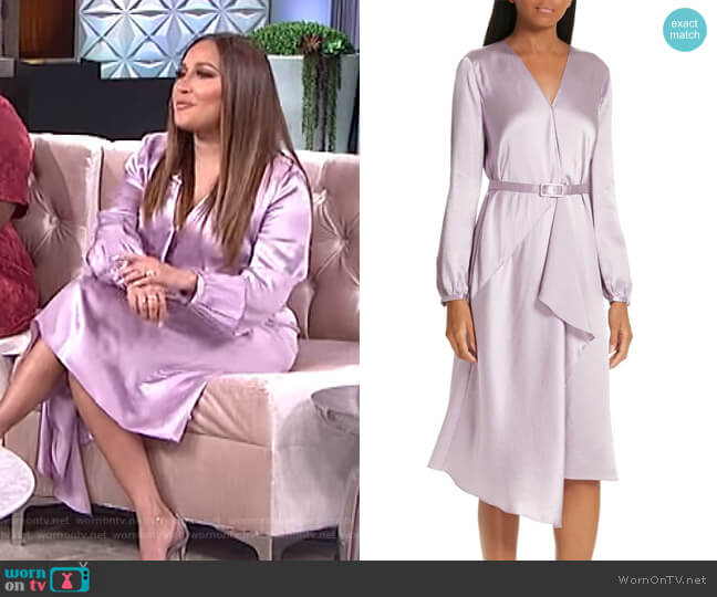 Hammered Dress by Lewit worn by Adrienne Houghton  on The Real