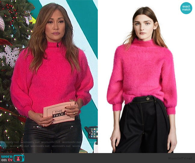 Fuzzy Alder Sweater by Line & Dot worn by Carrie Inaba  on The Talk