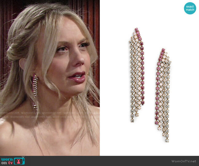 Loren Hope Marissa Drop Earrings worn by Abby Newman (Melissa Ordway) on The Young & the Restless