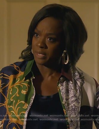 Annalise's mixed print blouse on How to Get Away with Murder